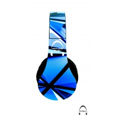 Blu Tris Abstract Pattern Over-Ear Bluetooth Wireless Headphones