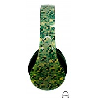 Green Digital Camo ACU Pattern Over-Ear Bluetooth Wireless Headphones