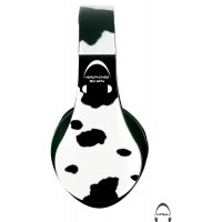 Cow Print Over-Ear Bluetooth Wireless Headphones