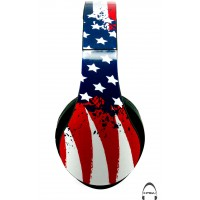 American Flag Over-Ear Bluetooth Wireless Headphones