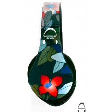 Dark Flowers Over-Ear Bluetooth Wireless Headphones