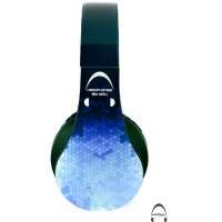Blu Hexa Abstract Pattern Over-Ear Bluetooth Wireless Headphones