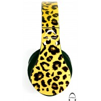 Leopard Print Over-Ear Bluetooth Wireless Headphones