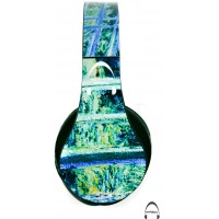 Monet's Water Lilies and Japanese Bridge Over-Ear Bluetooth Wireless Headphones