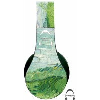 Van Gogh's Field with Green Wheat Over-Ear Bluetooth Wireless Headphones
