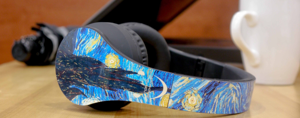 Van Gogh's Starry Night Headphones by Headphones By You
